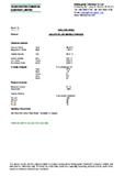 Technical data sheet, calcite filler