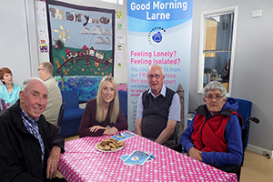 Carolyn McFall attending Good Morning Larne