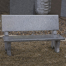 Backed Bench Grey Granite