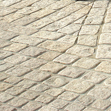 Grouted paving