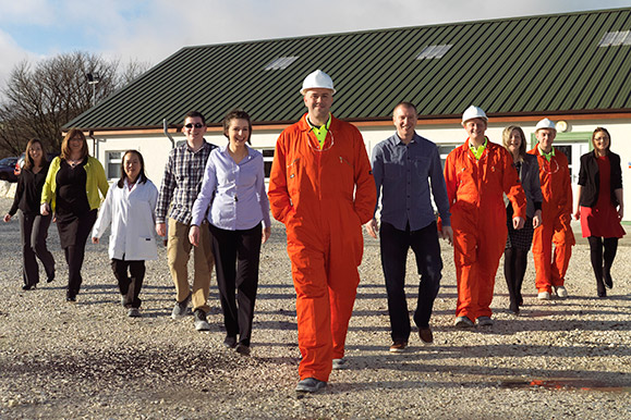 Kilwaughter Minerals Ltd, people photo shoot at quarry site