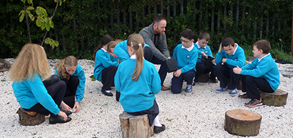 Corran Integrated Primary School (IPS) Larne with K Dash decorative aggregates for their school garden.