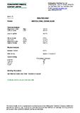 Technical Data Sheet, Coarse Blend