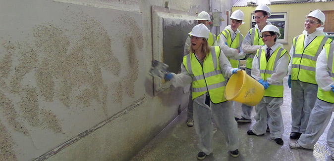 Larne Grammar School visit Kilwaughter Chemical Co. Ltd quarry, 2014