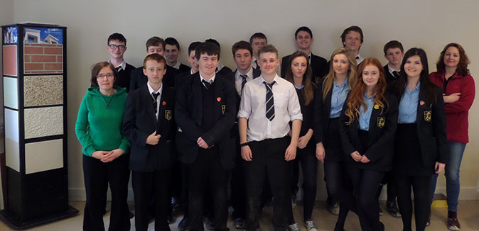 Larne High School visit Kilwaughter Chemical Co.Ltd, 2014