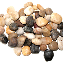 Mixed Polished Chinese Pebbles Small 20-40mm