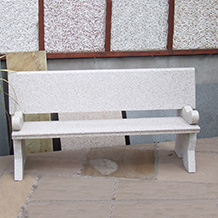 Bench with Arm Rests Oatmeal Granite