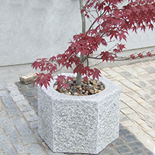 Silver Grey Granite Large Octagonal Pot
